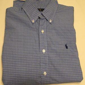 Ralph Lauren men's shirt size Small blue tones